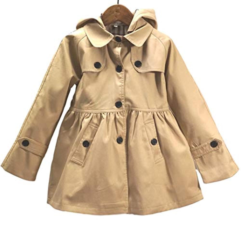 (sleeping sheep) 子供服 キッズ 女の子 スプリング コート フード付き 裏地 かわいい チェック 柄 トレンチコート