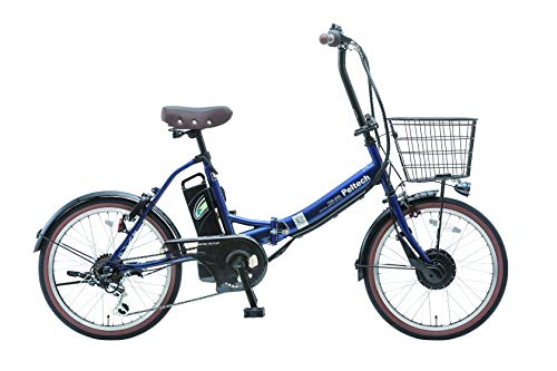 PELTECH(ペルテック) 折り畳み電動アシスト自転車 20インチ折り畳み外装6段変速付き マットネイビー【簡易組立必要品】(TDN-206)