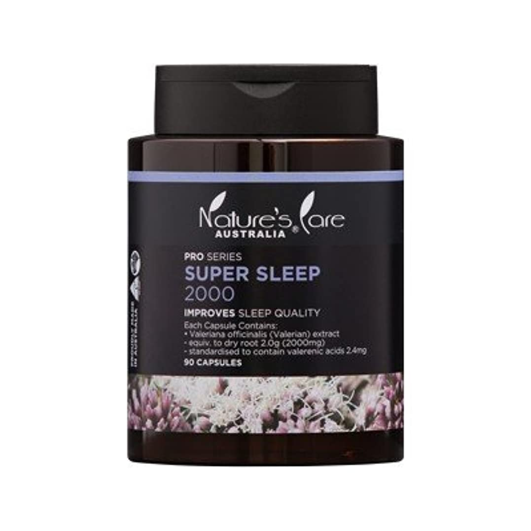 批判的余計な組み合わせる【Nature's Care】上質な睡眠をサポート☆Super Sleep スーパースリープ 2000mg 90カプセル入