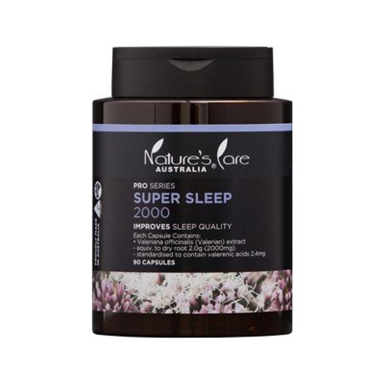 一貫性のない教科書勇敢な【Nature's Care】上質な睡眠をサポート☆Super Sleep スーパースリープ 2000mg 90カプセル入