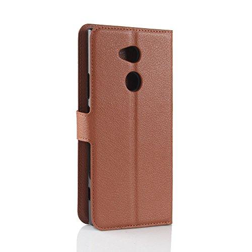 Sony Xperia XA2 Ultra Case,Sony Xperia XA2 Ultra Case,スペース Premium PU Leather Wallet Snap Case スペース スペース Flip Cover for Sony Xperia XA2 Ultra Brown