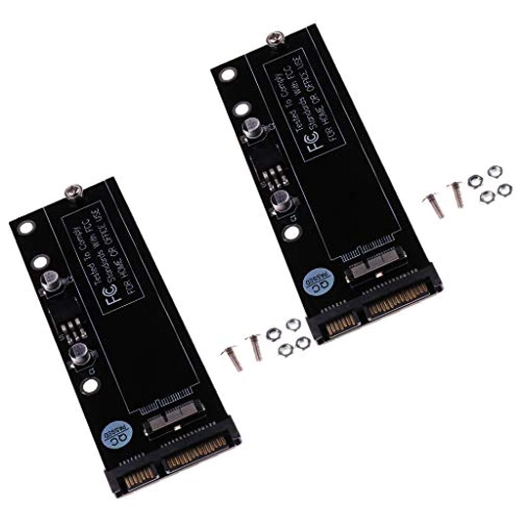 役に立たないチェリー徹底F Fityle 2パック 6+12ピン SSD-22ピン SATAアダプタカード アクセサリー 2010 2011 MacBook Air用