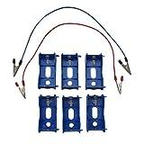 TNBF 単一 電池 箱 ボックス 直列 並列 接続 ミニ 四駆 モーター ならし 慣 一式 セット バッテリー でんち 青 6個