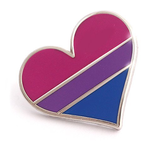 Bisexual Pride Pin Bi Flag Enamel Lapel Heart Gay Pin Brooch [並行輸入品]