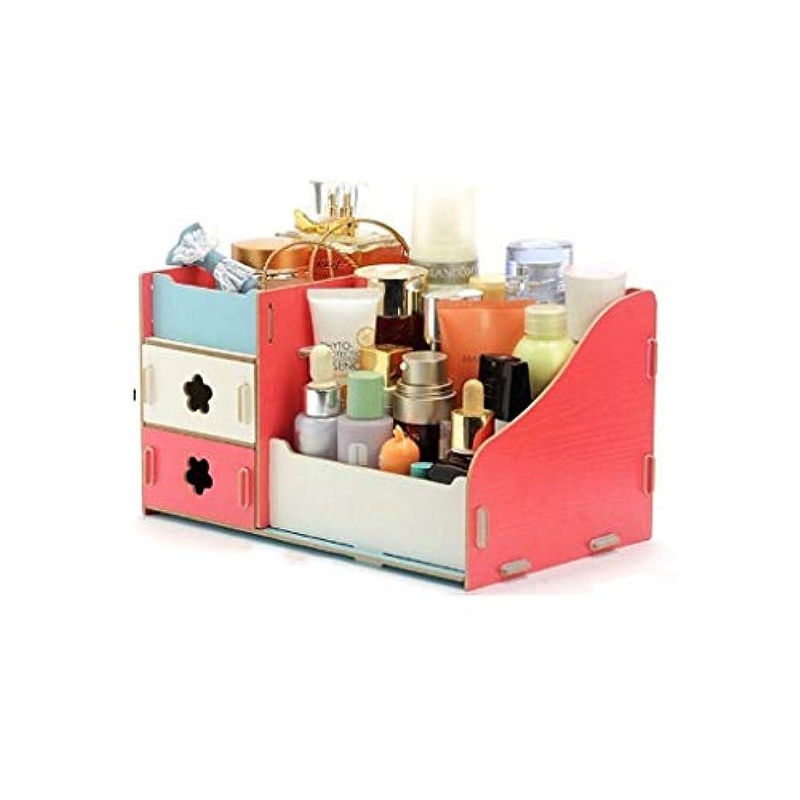 突然病者確立します木製収納ボックスジュエリーコンテナ化粧組織ケース (Color : B)