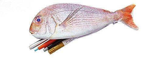 お魚 プリント おもしろ ペンケース ポーチ 筆箱