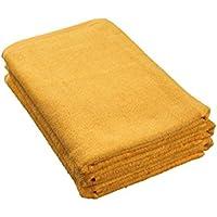8年タオル バスタオル 65cm×135cm オレンジ 3枚セット