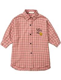 [TAOHUA]春秋 子供服 女の子 ポロシャツ 綿 チェック柄 印刷 可愛い おしゃれ 肌に優しい生地 ソフトで快適 適当な厚さ