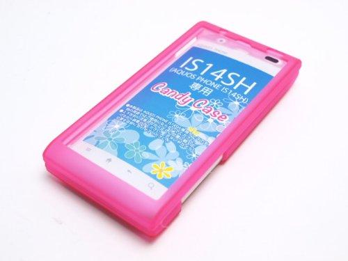 藤本電業 IS14SH専用キャンディハードケース(液晶保護フィルム付) ピンク F71-IS14SH-A-PK