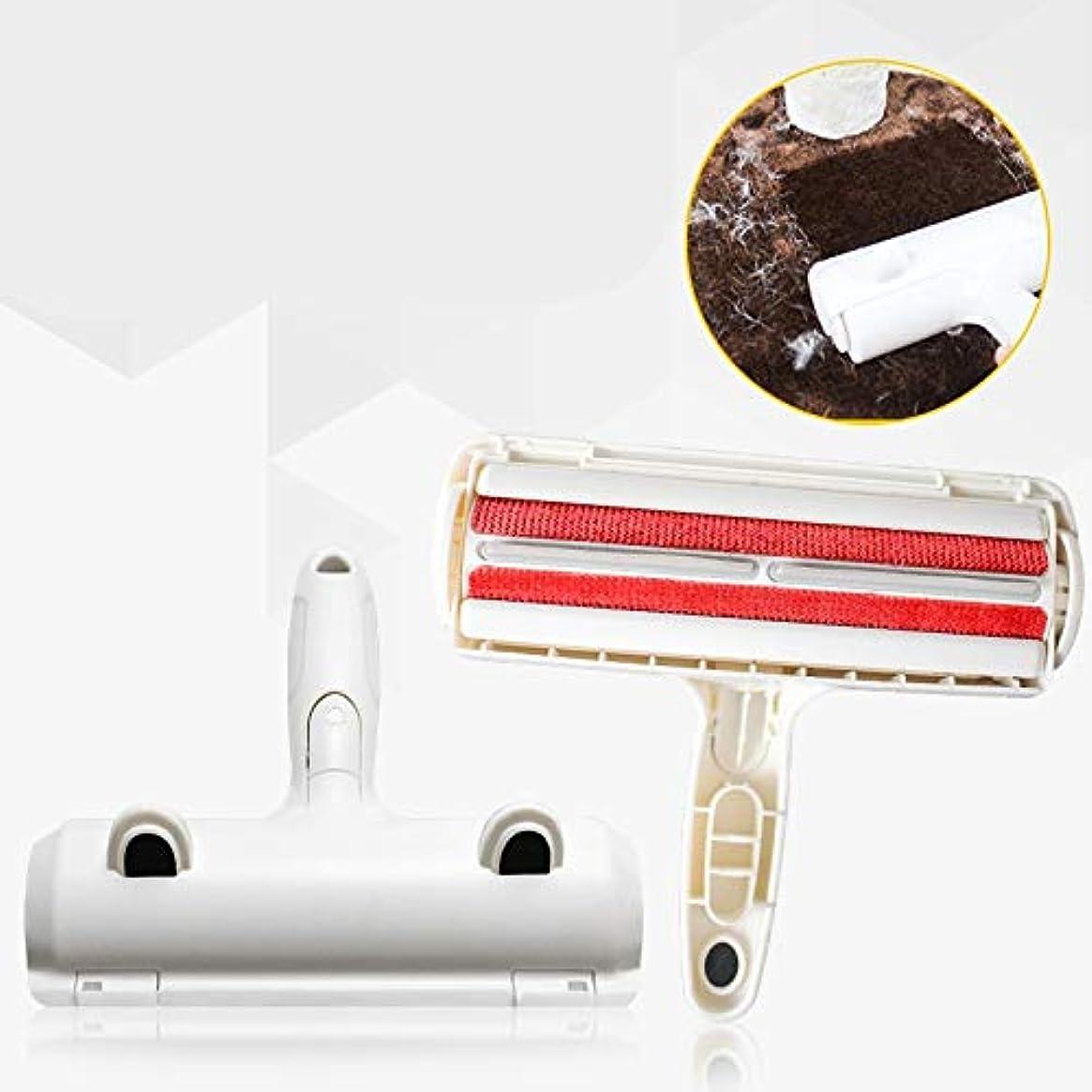 洗う厄介な一晩アップグレードされたバージョンのペット脱毛器-ブラシ再利用可能なクリーナーは、きれいなブラシで家具、カーペット、寝具などから髪を取り除きます (Color : Red)