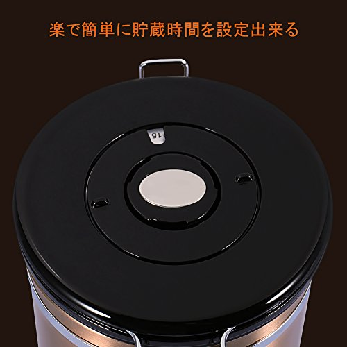 コーヒー豆 保存容器 コーヒーキャニスター ステンレス 密閉 おしゃれ コーヒー貯蔵缶 大容量 キッチン用品 四種カラー選択可能 1.8L, ゴールド