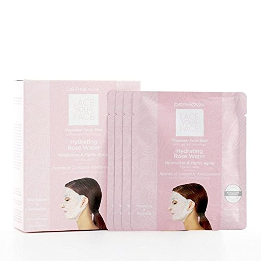 コンパニオン子供時代居住者Dermovia Lace Your Face Compression Facial Mask Hydrating Rose Water (Pack of 6) - は、あなたの顔の圧縮フェイシャルマスク水和が水をバラレース...