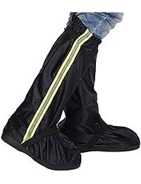 軽量で通気性のある バイクシューズカバー、防水リフレクティブサイクリングシューズカバー、防風自転車ロックオーバーシューズレインスノーブーツプロテクターフィートガレージ (色 : 赤, サイズ : XXL)