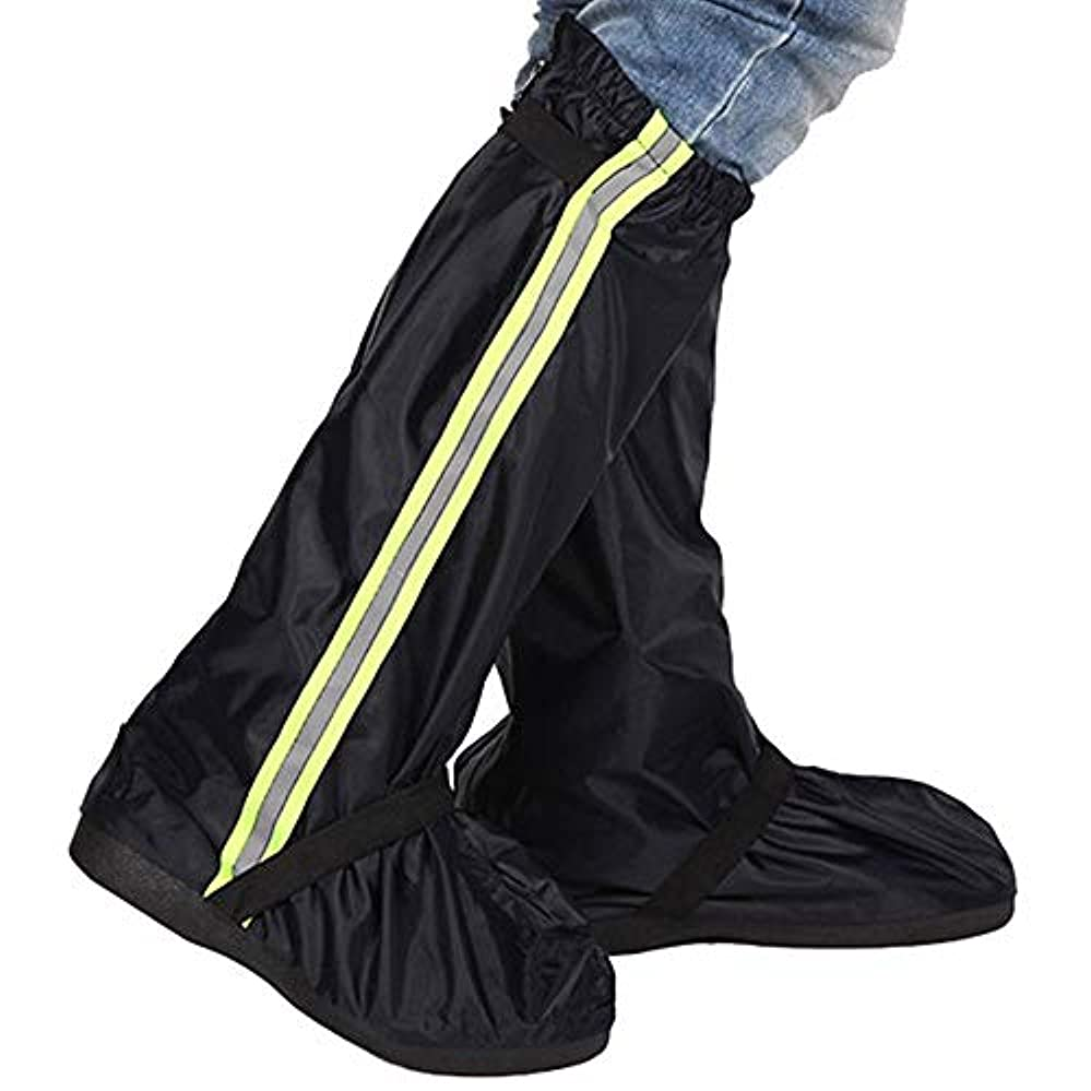 超越するキャベツ長老防水靴カバー バイクシューズカバー、防水反射サイクリングシューズカバー、防風自転車ロックオーバーシューズRain Snow Boot ProtectorフィートゲイターMTBバイク自転車シューズカバー、男性と女性用防水オーバーシューズ (色 : 緑, サイズ : X-Large)