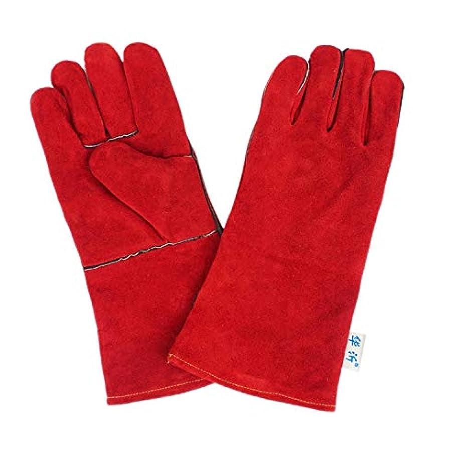 のど明らかに抽象WTYDスポーツ用品 246#耐摩耗性フル2層レザー絶縁手袋高温溶接溶接手袋レザー作業保護、サイズ:34 * 16 cm スポーツのために使用されます