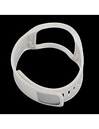 【ノーブランド 品】Samsung Gear S SM-R750 対応 調整可能 快適 耐久性 トンリストバンド - ホワイト