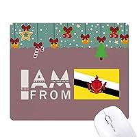 私はブルネイ出身です ゲーム用スライドゴムのマウスパッドクリスマス