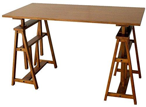 市場 オマージュ アトリエテーブル 幅120×奥60cm ブラウン HMT-2665BR[2個口]