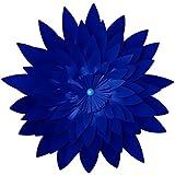 BESTOYARD 3Dペーパーフラワー壁装飾 人工紙工芸 パーティーホームデコレーション用 (ダークブルー) 40cm