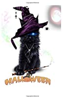 halloween halfwide notebook: halfwide half ruled notebook with Halloween logo 120 whites pages