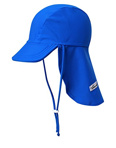 Vaenait Babyベビー 子供水着日焼け予防UVカットフラップキャップ帽子 UVFlaphat Blue L
