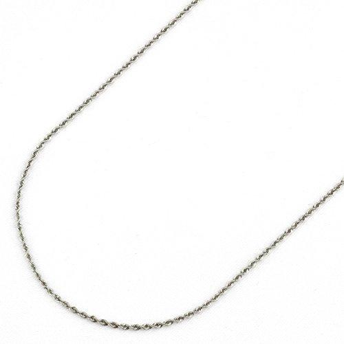 nadi K18WG ロープ チェーン 18金 ホワイト ゴールド ネックレス
