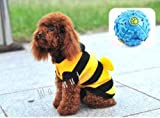 【ELEEJE】 愛犬 わんちゃん も 一緒 に 大 盛り上がり 蜜蜂 ( みつばち )に 変身 だっ! ハロウィン クリスマス コスプレ !! ドッグ ウェア ( 小型犬 、 中型犬 、 大型犬用 ボール の セット )ミツバチ 14号