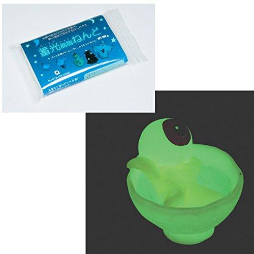 RoomClip商品情報 - 暗闇で光るアクセサリーを作ろう! 蓄光樹脂ねんど 100g グリーン 231-472