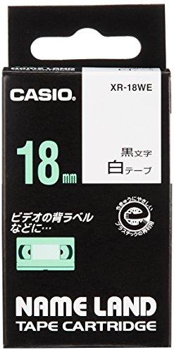 カシオ ネームランド ラベルライター テープ 18mm 白 XR-18WE
