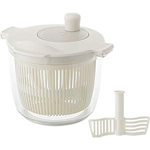リス 野菜水切り器 リベラリスタ サラダスピナー&ミキサー 2.3L ホワイト