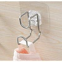 Tesany 壁掛けフック 吸盤フック ウォールフック 無限フック キッチン/浴室用 壁掛け 洗い桶掛け 痕跡が残らず 繰り返し使用可能 風呂 強力 ステンレス 1個