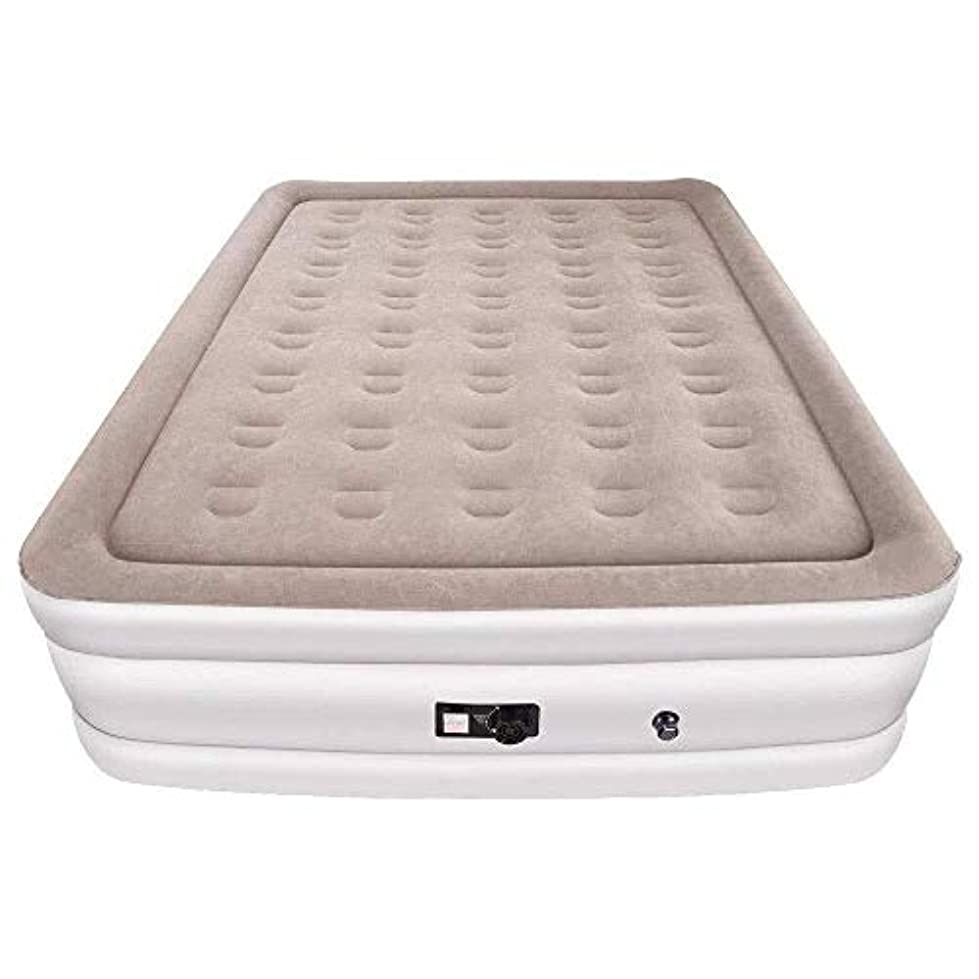 建物有益警告ZXF 厚く膨脹可能な高く膨脹可能なベッド152×203×48CMを高める屋外の群がる空気ベッドの厚い空気マットレスの作り付けポンプ 暖かくて快適です