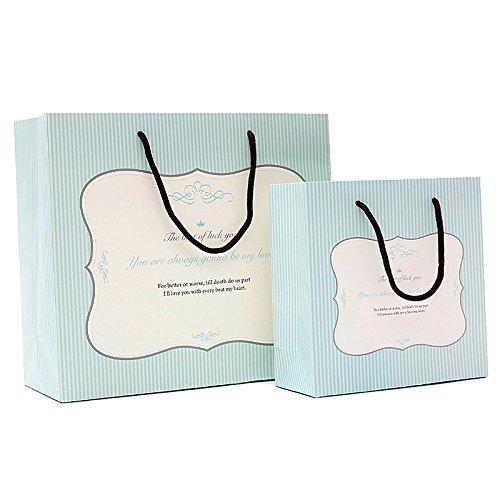 ギフトバッグ 紙袋 大きいサイズ 手提げ 3枚入り エレガント 英語 ポップでキュートなデザイン大サ...