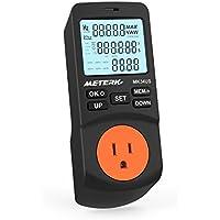 Meterk ワットモニター 電気モニター 電力計 ワットメーター 節電 電圧 周波数 テスター 消費電力計 日本語説明書付き