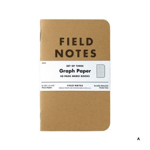 FIELD NOTES 3-PACKS (A)方眼 [FB001]
