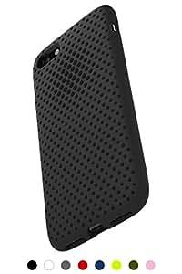 AndMesh iPhone 8 ケース / iPhone 7 ケース, メッシュケース Qi 充電 対応 耐衝撃 | ブラック 黒 AMMSC701-BLK