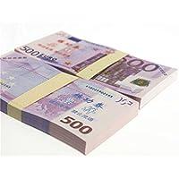 $ 500 x 200pcs EUR Paper Moneyノベルティ小道具Magicianアクセサリー、偽造マネー、マネー、ビデオアクセサリー、子供たちのおもちゃ、パーティーの流動性の銀行Bills、安全、おもちゃ