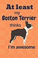 At least My Boston Terrier thinks I'm awesome: For Boston Terrier Dog Fans