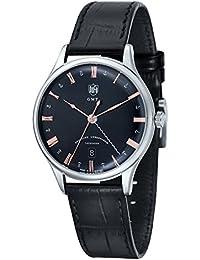 [ドゥッファ]DUFA メンズ WEIMAR GMT ブラック クロコ レザー DF-9006-01 腕時計 [並行輸入品]