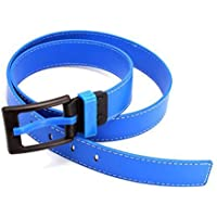 Sanwooden Trendy Belt Fashion Casual Men Women Faux Leather Belt Rectangle Pin Buckle Waist Strap Waist Belt