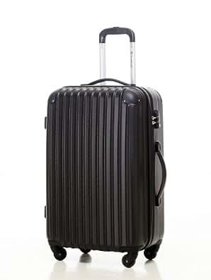 スーツケース・キャリーケース・軽量・小型・機内持ち込み・TSAロック・半鏡面仕上げTravelhouse (SS, black)