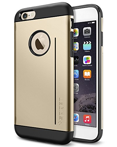 iPhone 6 ケース, Spigen®  スタンド機能  スリム アーマーS iPhone 4.7 (2014) The New iPhone アイフォン6 カバー (国内正規品) (シャンパン・ゴールド 【SGP10961】)