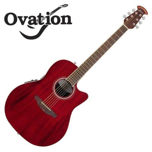 Ovation Celebrity CS24 Ruby Red Mid Depth エレアコギター (オベーション セレブリティ)