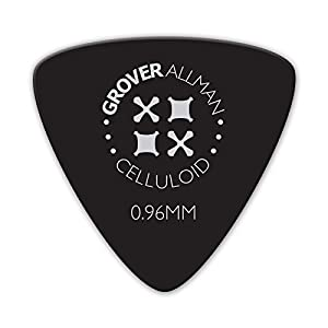Grover Allman 【グローバーオールマン】 Celluloid, Black, Large Triangle, 0.96mm 10枚