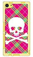 SECOND SKIN スカルパンク ピンク (ソフトTPUクリア) / for Xperia Z5 Compact SO-02H/docomo  DSO02H-TPCL-701-J097