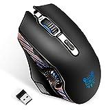 【ゲーミングマウス】ONIKUMA 2.4GHzワイヤレスマウス 有線マウス ダブルモードマウス 一台2役 光学式 6段階DPI 6色LEDライト 高精度タ..