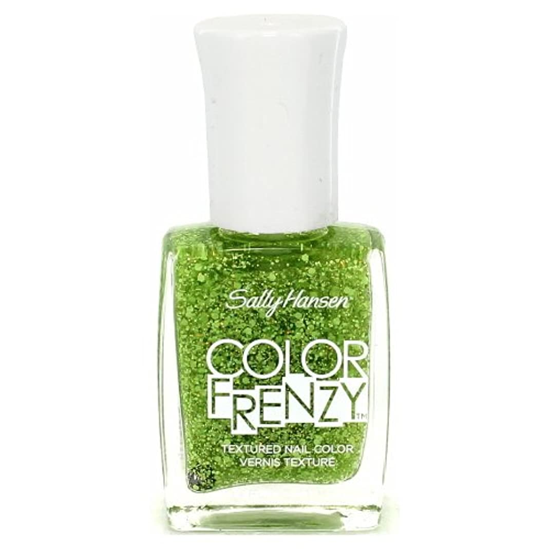 展望台アクションでも(6 Pack) SALLY HANSEN Color Frenzy Textured Nail Color - Green Machine (並行輸入品)