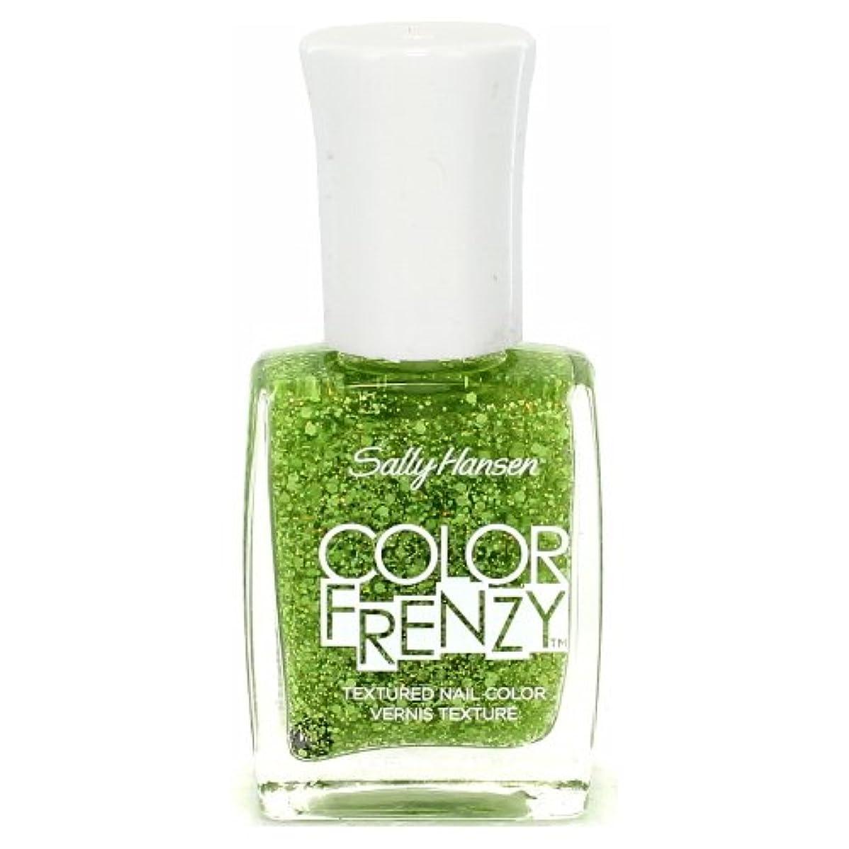 レタッチ主流無駄(6 Pack) SALLY HANSEN Color Frenzy Textured Nail Color - Green Machine (並行輸入品)