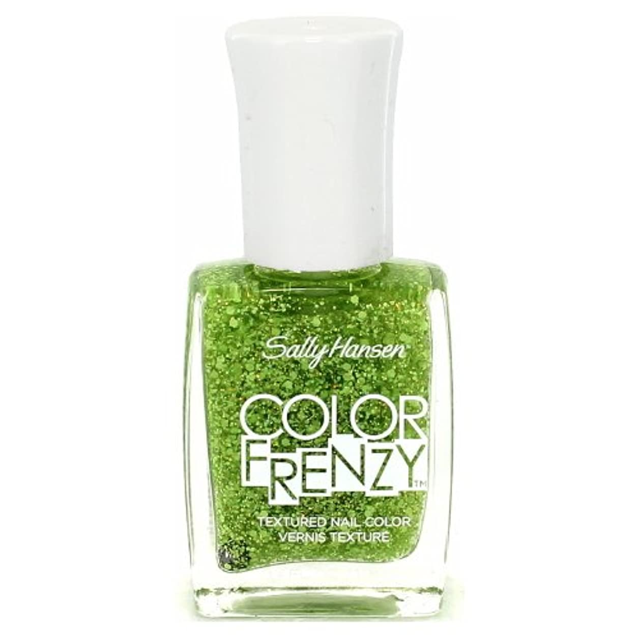 作成する白雪姫生命体(3 Pack) SALLY HANSEN Color Frenzy Textured Nail Color - Green Machine (並行輸入品)