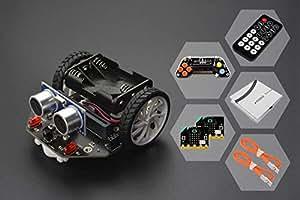 micro: Maqueen - グラフィカル プログラミング ロボットキット (04 micro:bit/micro:Gamepad/IRリモートコントローラ付き)